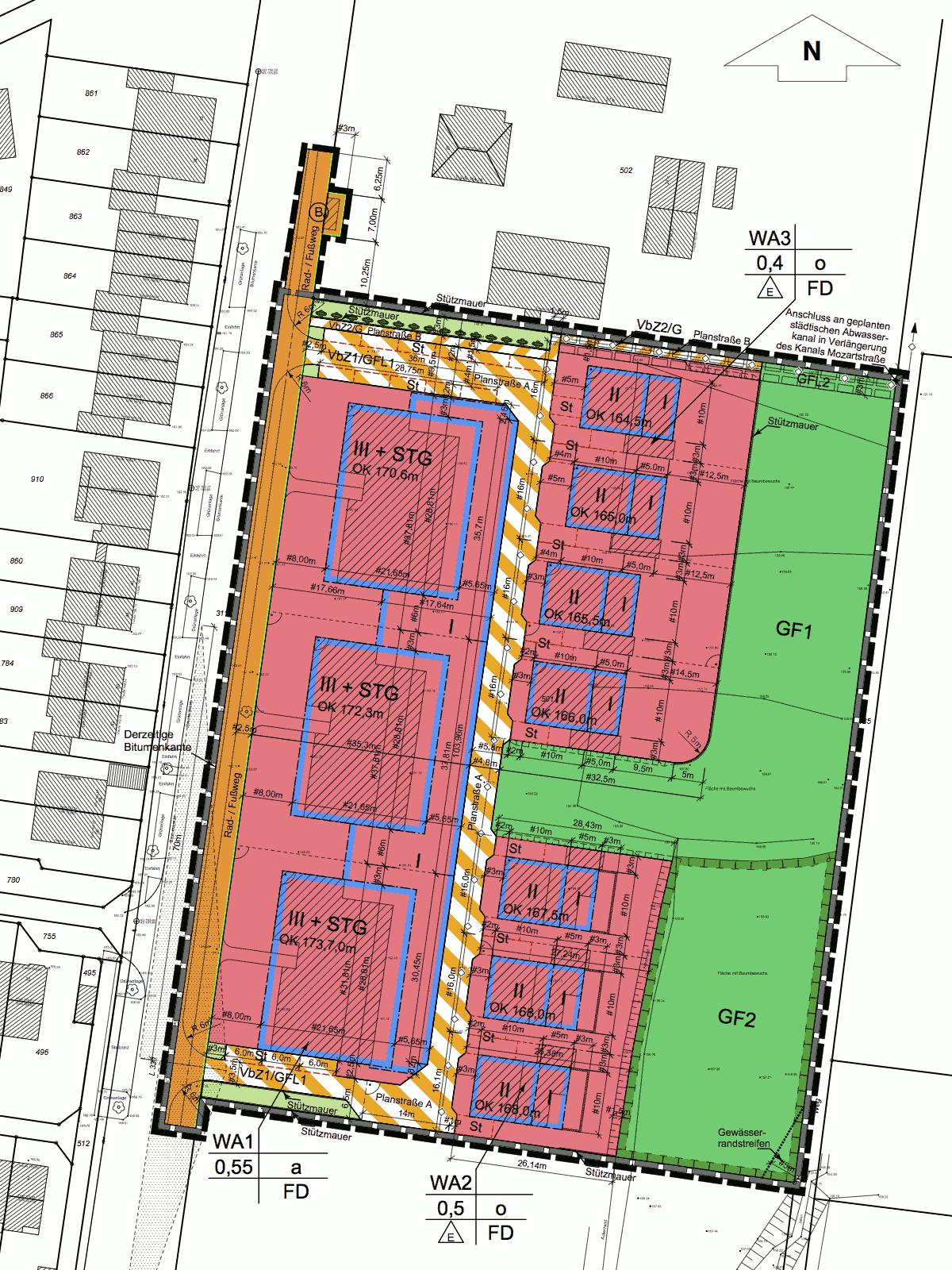 vorhabenbezogener bebauungsplan nr 60 55 der stadt k nigswinter geplantes wohngebiet stlich. Black Bedroom Furniture Sets. Home Design Ideas
