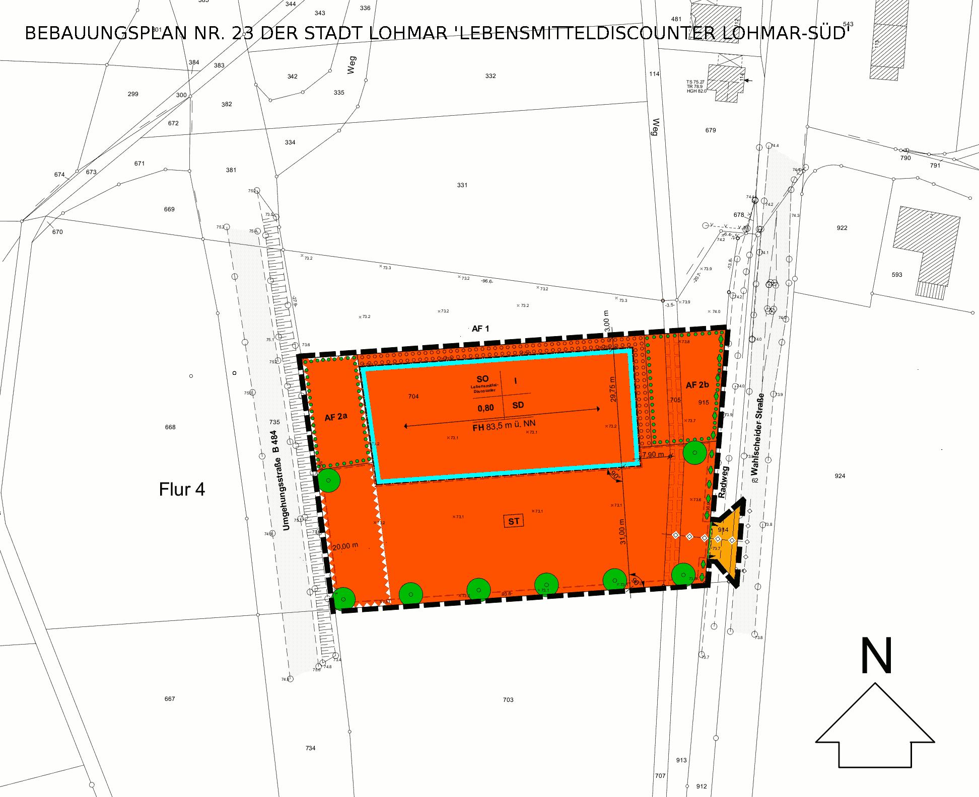 vorhabenbezogener bebauungsplan nr 23 der stadt lohmar 39 lebensmitteldiscounter lohmar s d. Black Bedroom Furniture Sets. Home Design Ideas